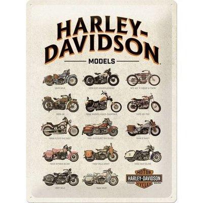 Modèles Harley Davidson 30x40cm Plaque en étain