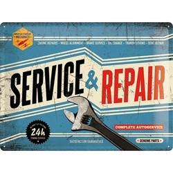 Service und Reparatur 30x40 Blechschild