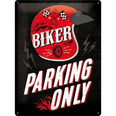 Biker Parking Only 30x40cm Plaque en étain