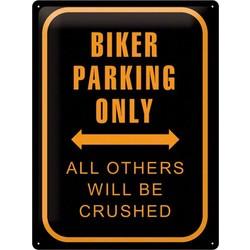 Biker Parking Only 40x30 Plaque en étain