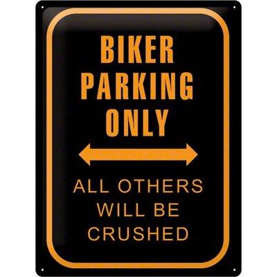 Biker Parking Only 40x30 Blechschild