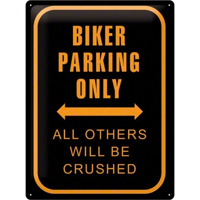 Biker Parking Only 40x30 Reclame bord