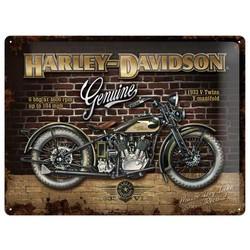 Harley Davidson 40x30 Plaque en étain