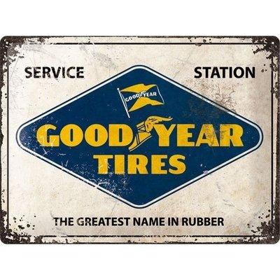 Logo Goodyear 40x30 Plaque en étain