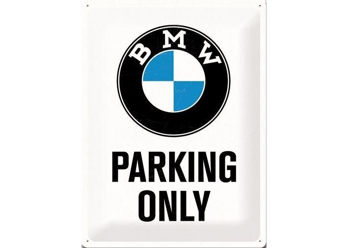 BMW Parking Only 40x30 Blechschild