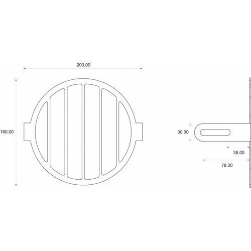 C.Racer Headlight Screen + Lens Kit (3 Pcs)