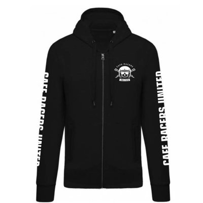 Cafe Racers United Predator Zip Hoodie Black