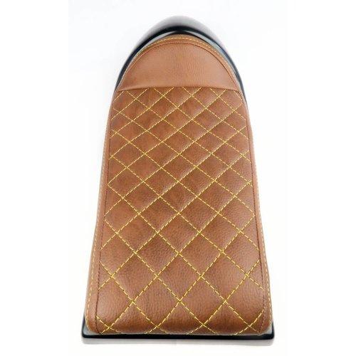 C.Racer Cafe Racer Seat Chocolat Diamond Stitch Bruin / Geel Type 26