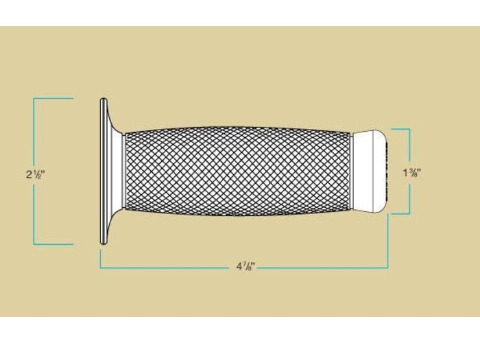 """Biltwell 7/8"""" or 22MM Renegade Grips White"""