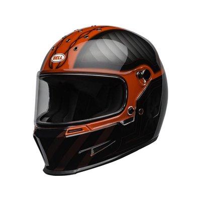 Bell Eliminator Helm Outlaw Gloss Zwart / Rood