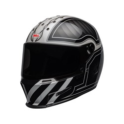 Eliminator Helm Outlaw Gloss Zwart / Wit