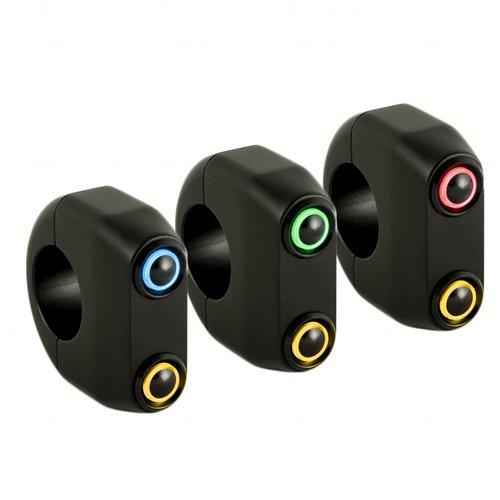 Rebelmoto REBEL.SWITCH 2 knops LED - Zwart 22mm