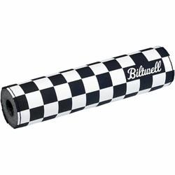 Motocross MX Crash Pad Bar Checkers / Script Black