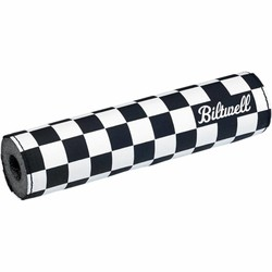 Motorcross Stuurkussen Checkers / Script Zwart