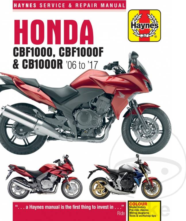 Repair Manual Honda Cbf1000 Cbf1000f Cb1000r 06 17 Caferacerwebshop Com