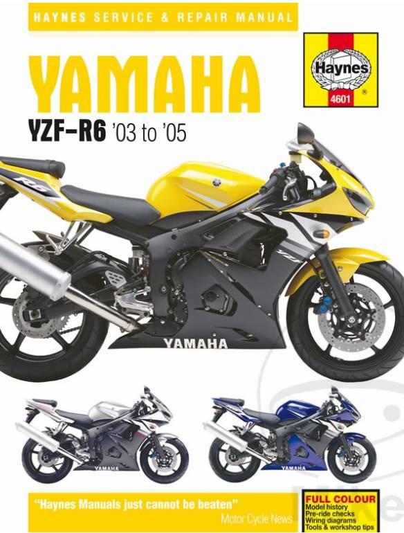 Reparatur Anleitung YAMAHA YZF600R R6 03-05 ... on
