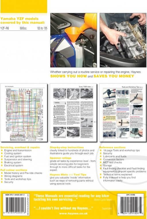 Repair Manual YAMAHA YZF600R R6 03-05 - CafeRacerWebshop.com on