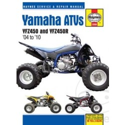 Repair Manual YAMAHA YFZ450 & YFZ450R 04-10