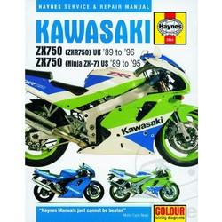 Manuel de réparation KAWASAKI ZXR750 UK 89-96 ZX750 ZX-7 89-95