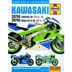 Werkplaatshandboek KAWASAKI ZXR750 UK 89-96 ZX750 ZX-7 89-95