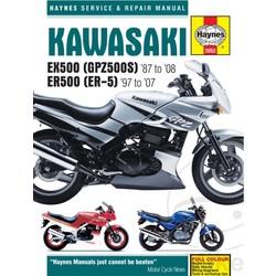 Werkplaatshandboek KAWASAKI EX500 GPZ500S 87-08 ER500 Er-5 97-07