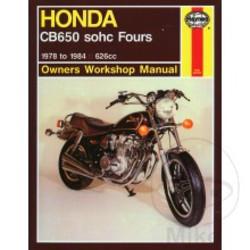 Werkplaatshandboek HONDA CB650 SHOC FOUR 1978 - 1984