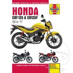 Werkplaatshandboek HONDA CBF125 (09-14)