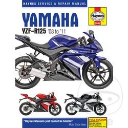 Repair Manual YAMAHA YZF-R125 2008 - 2011
