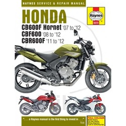 Repair Manual HONDA CB600 HORNET CBR600F (07-12)