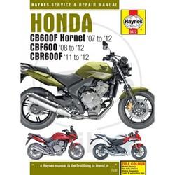 Repair Manual HONDA CB600 HORNET CBR600F (07-12)