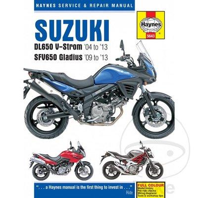 Haynes Repair Manual SUZUKI DL650 V-STROM & SFV650 04-13