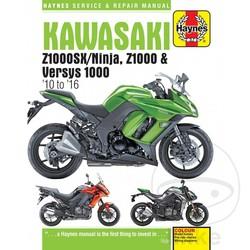 Manuel de réparation KAWASAKI ZX1000SX / NINJA Z1000 VERSYS 1000 201