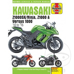 Werkplaatshandboek KAWASAKI ZX1000SX / NINJA Z1000 VERSYS 1000 201