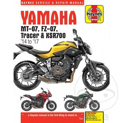 Haynes Repair Manual YAMAHA MT-07/FZ-07/Tracer/XSR700