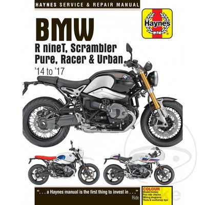 Haynes Repair Manual BMW R nineT, SCRAMBLER, RACER 2014-2017