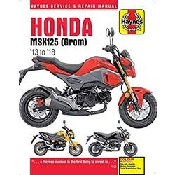 Werkplaatshandboek HONDA MSX 125 GROM 2013-2018