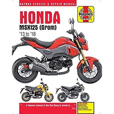 Haynes Manuel de réparation HONDA MSX 125 GROM 2013-2018
