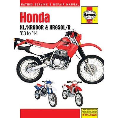 Haynes Manuel de Réparation HONDA XL/XR600R & XR650L/R 1983 - 2014
