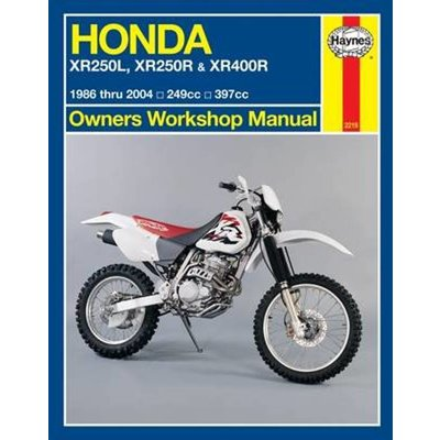 Haynes Manuel de Réparation HONDA XR250L XR250/400R (86 - 04)