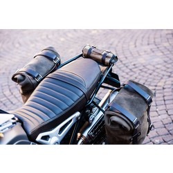 BMW R NineT Revêtement de selle en cuir brun  (Longue)
