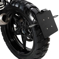 BMW R NineT Plate Holder Black - Low