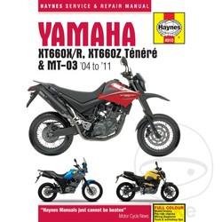Werkplaatshandboek YAMAHA XT660 & MT-03 (04-11)