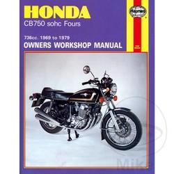 Werkplaatshandboek HONDA CB750 SOHC FOUR 1969 - 1979