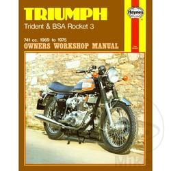 Werkplaatshandboek TRIUMPH TRIDENT & BSA ROCKET 3 1969 - 1975
