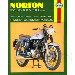 Werkplaatshandboek NORTON 500, 600, 650 & 750 TWINS 1957 - 1970