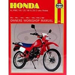 Werkplaatshandboek HONDA XL/XR 80, 100, 125, 185 & 200 2-VALVE MODEL