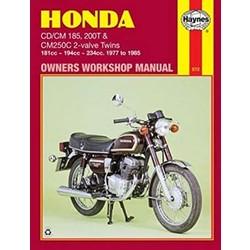 Repair Manual HONDA CD/CM185 200T & CM250C 2-VALVE TWINS 1977-1985