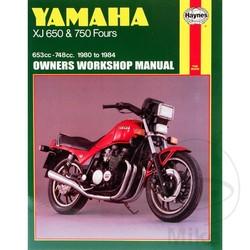 Werkplaatshandboek YAMAHA XJ650 & 750 FOURS 1980 - 1984