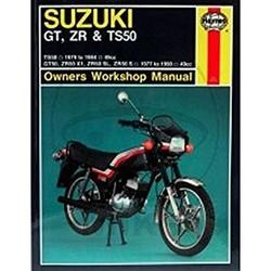 Werkplaatshandboek SUZUKI TS50 1979-1984 GT50, ZR50 X1 SL S 1977-1990