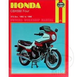 Repair Manual HONDA CBX550 FOUR 1982 - 1986